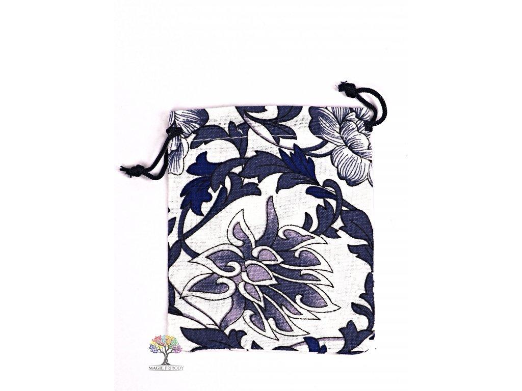Dárková taška - pytlík vzor smetana 10x12 cm - 20