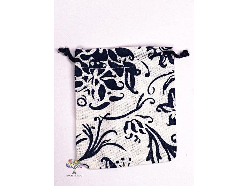 Dárková taška - pytlík vzor smetana 10x12 cm - 21