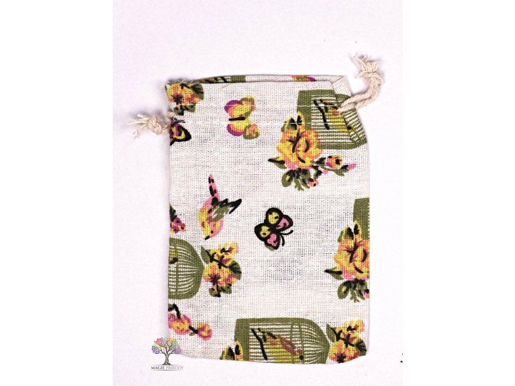 Dárková taška - pytlík vzor motýl 10x12 cm - 31  + sleva 5% po registraci na většinu zboží + dárek k objednávce