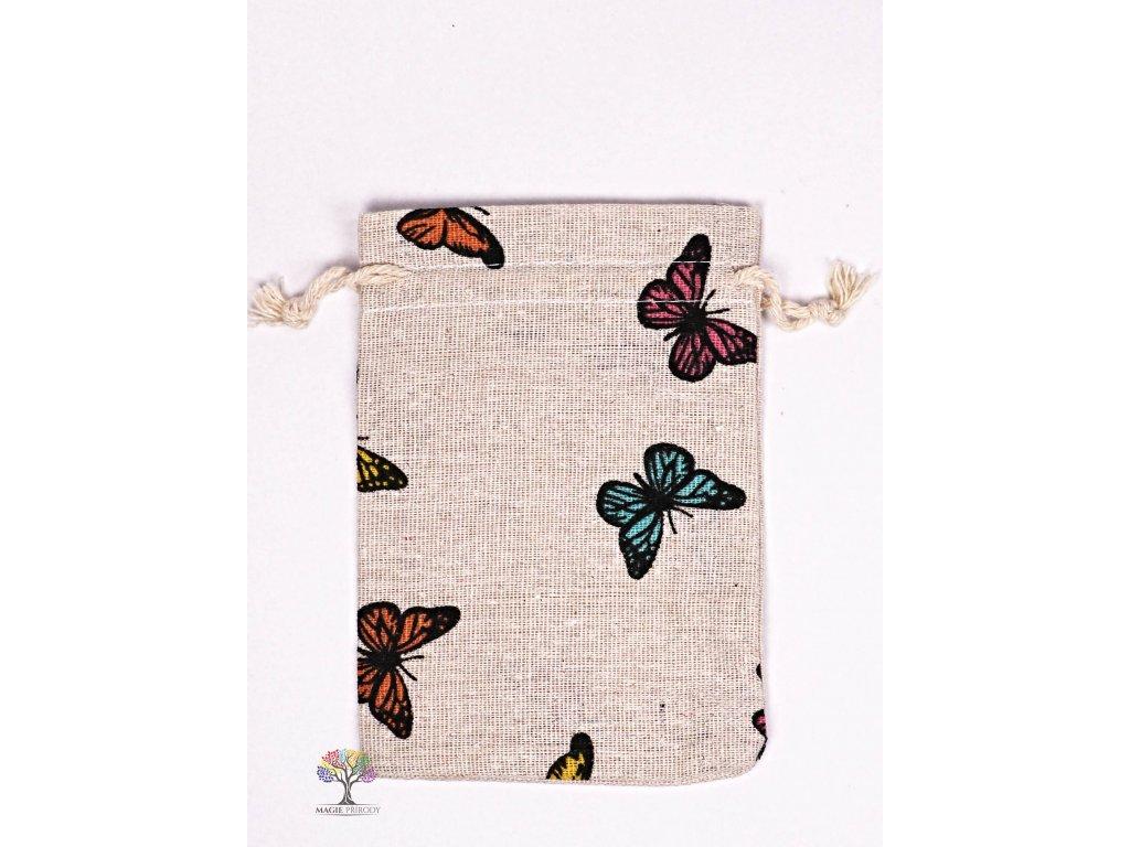 Dárková taška - pytlík vzor motýl 10x12 cm - 33  + až 10% sleva po registraci