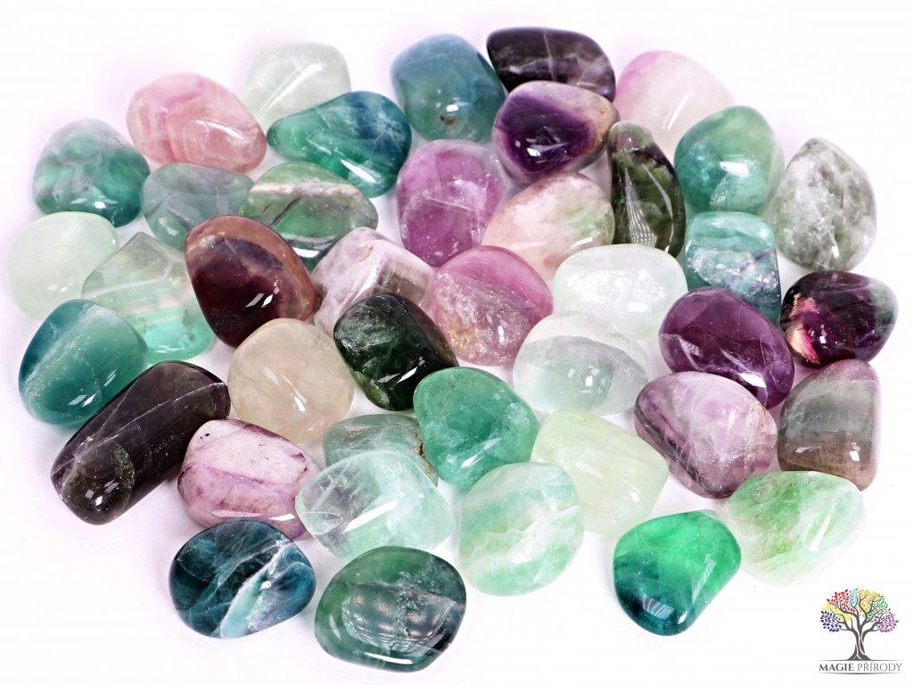Tromlované kamínky Fluorit XL - kameny o velikosti 30 - 55 mm - 1kg - Brazílie