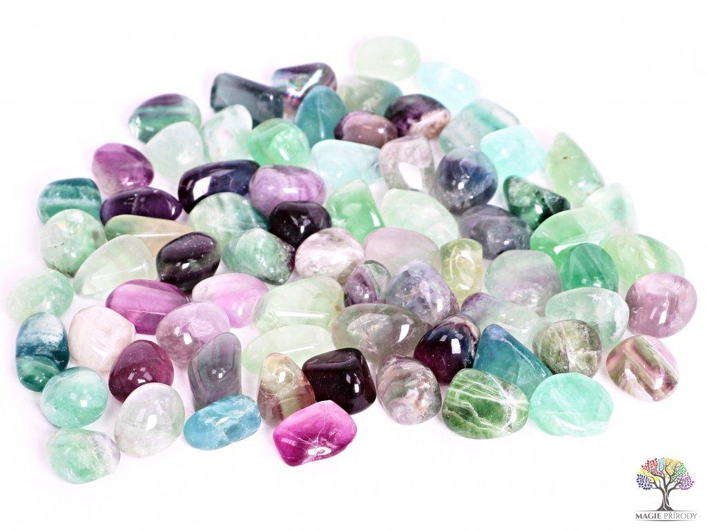 Tromlované kamínky Fluorit M - kameny o velikosti 20 - 30 mm - 1kg - Brazílie