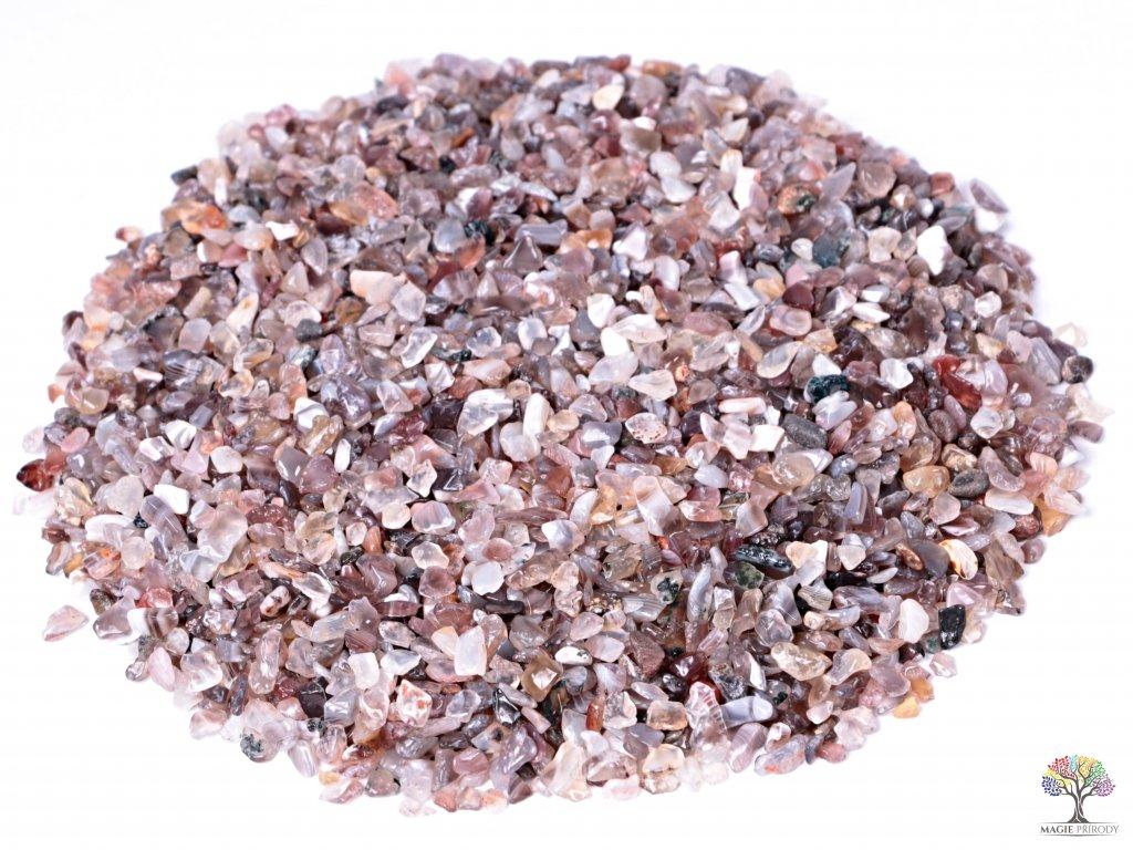 Tromlované kamínky Achát šedý XXS - 1 kg - kameny o velikosti 3 - 8 mm - Botswana
