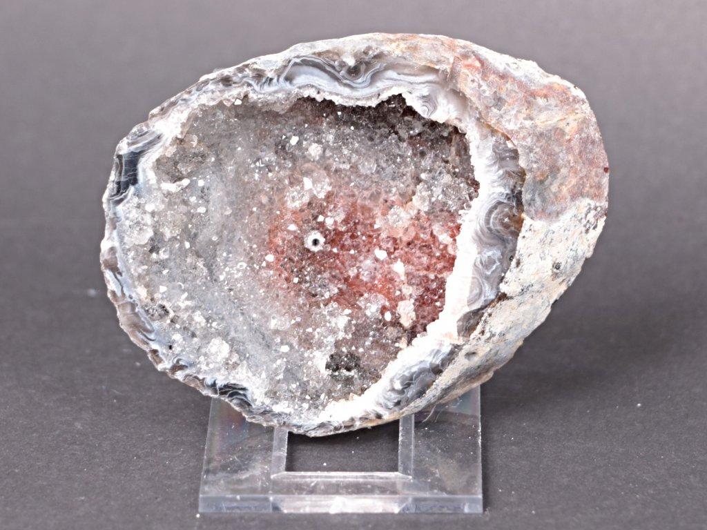 Achát peříčkový 8 cm - geoda - Top kvalita - #92