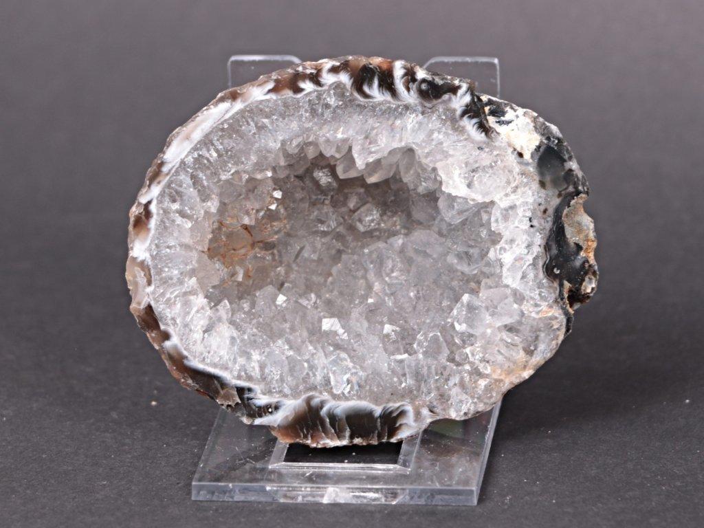 Achát peříčkový 7 cm - geoda - Top kvalita - #93  + až 10% sleva po registraci