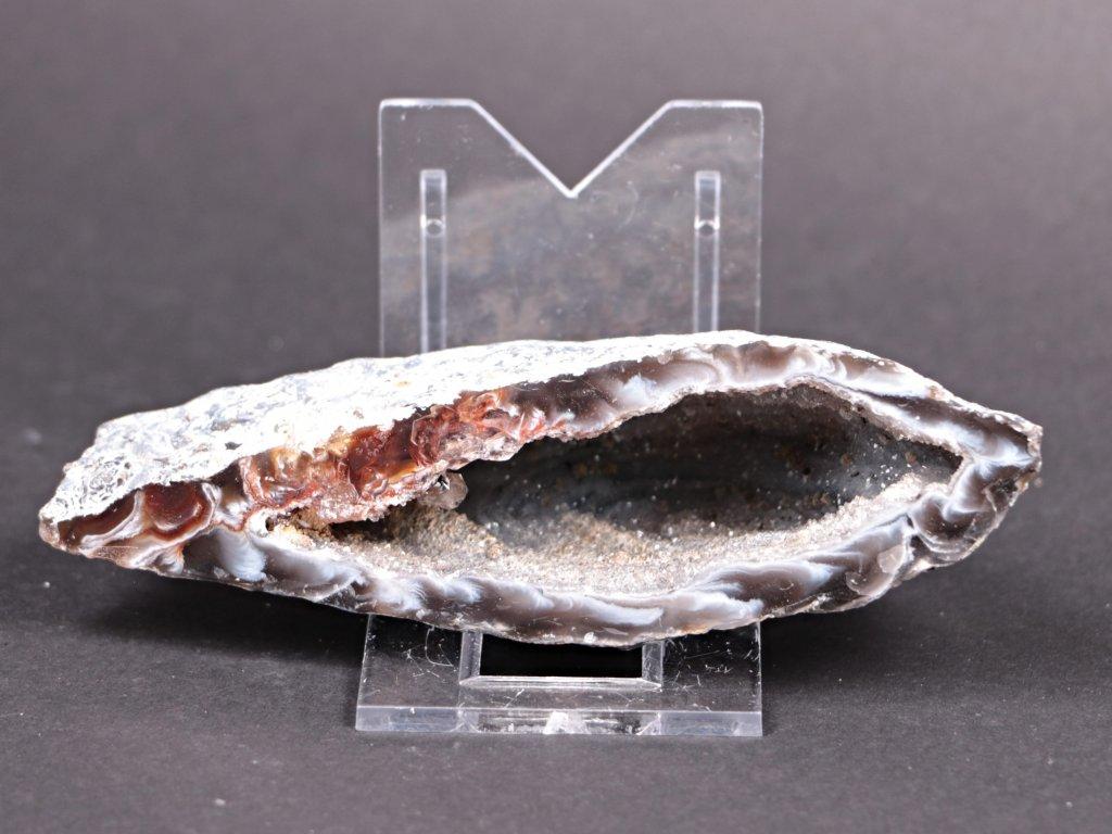 Achát peříčkový 11 cm - geoda - Top kvalita - #109