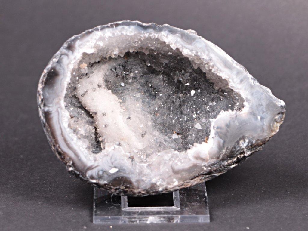 Achát peříčkový 9 cm - geoda - Top kvalita - #121