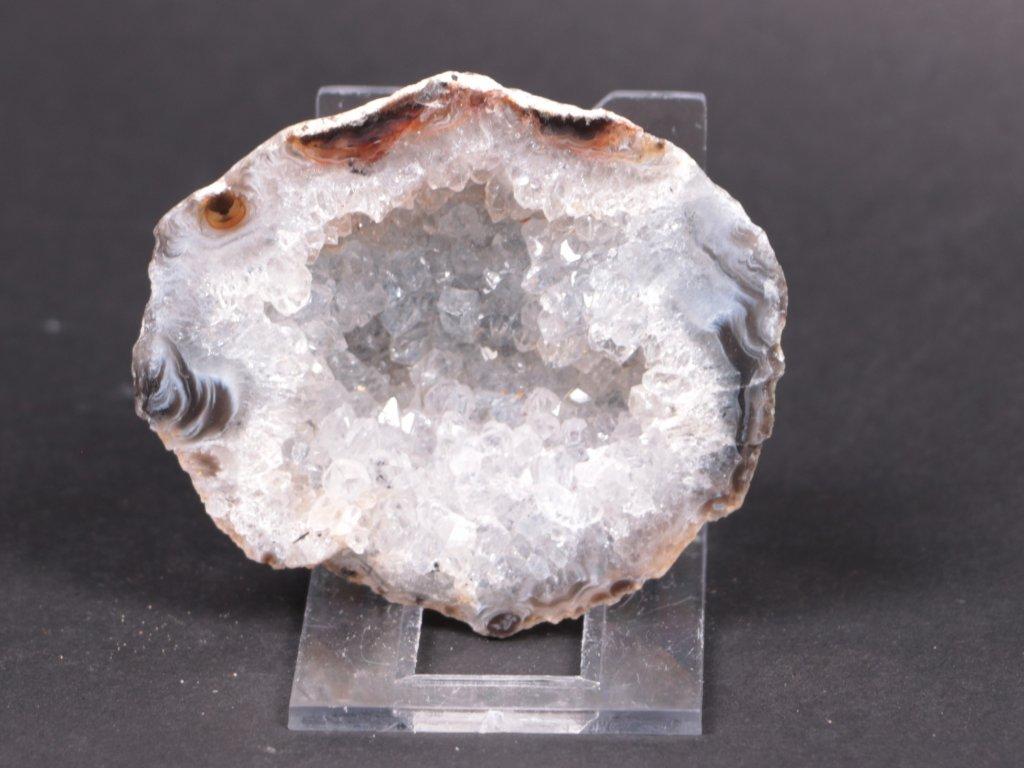 Achát peříčkový 7 cm - geoda - Top kvalita - #133  + až 10% sleva po registraci