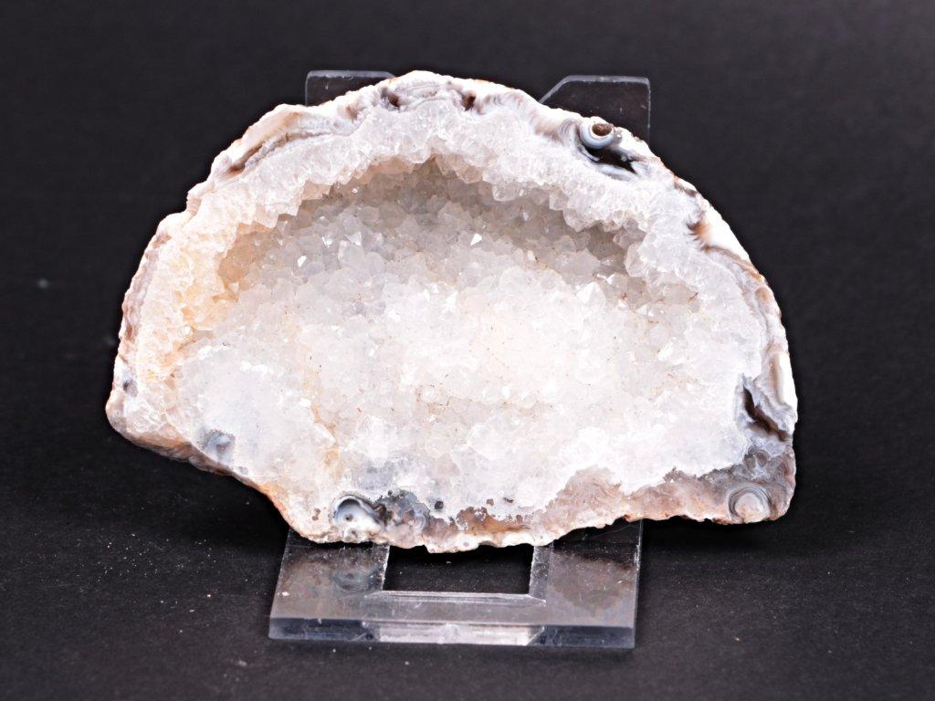 Achát peříčkový 8 cm - geoda - Top kvalita - #135  + sleva 5% po registraci na většinu zboží + dárek k objednávce