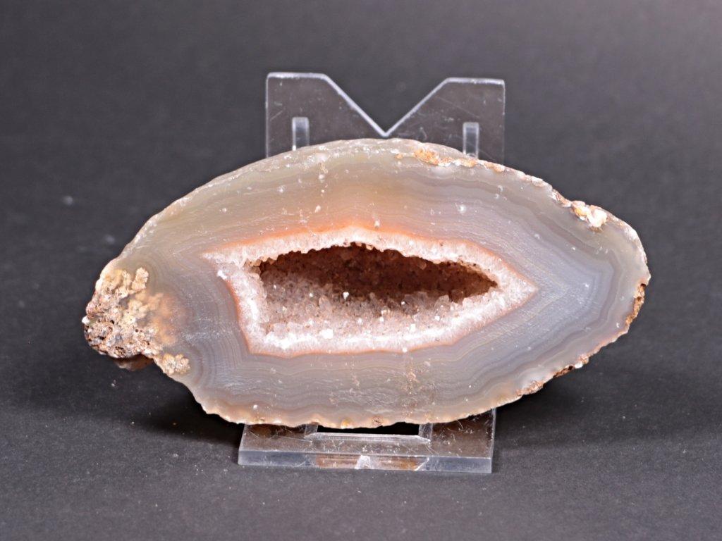 Achát peříčkový 9 cm - geoda - Top kvalita - #154
