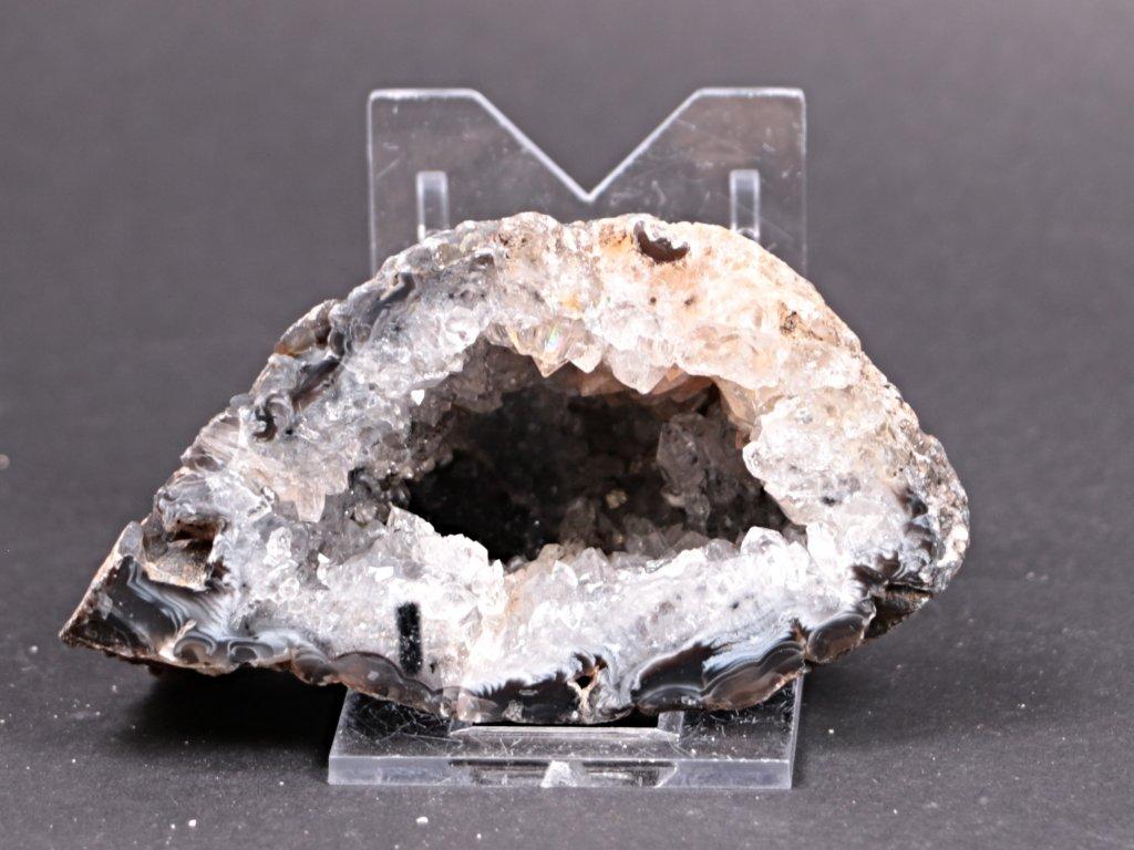 Achát peříčkový 8 cm - geoda - Top kvalita - #185