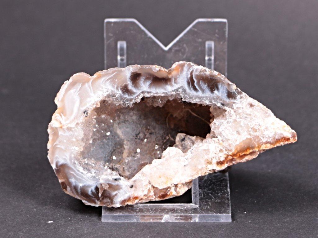 Achát peříčkový 8 cm - geoda - Top kvalita - #197