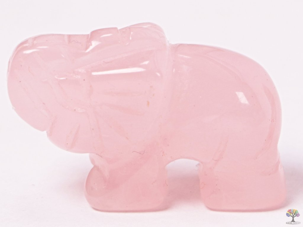 Slon Růženín 30 x 20 mm - Slon z přírodního kamene #10  + sleva 5% na vše po registraci