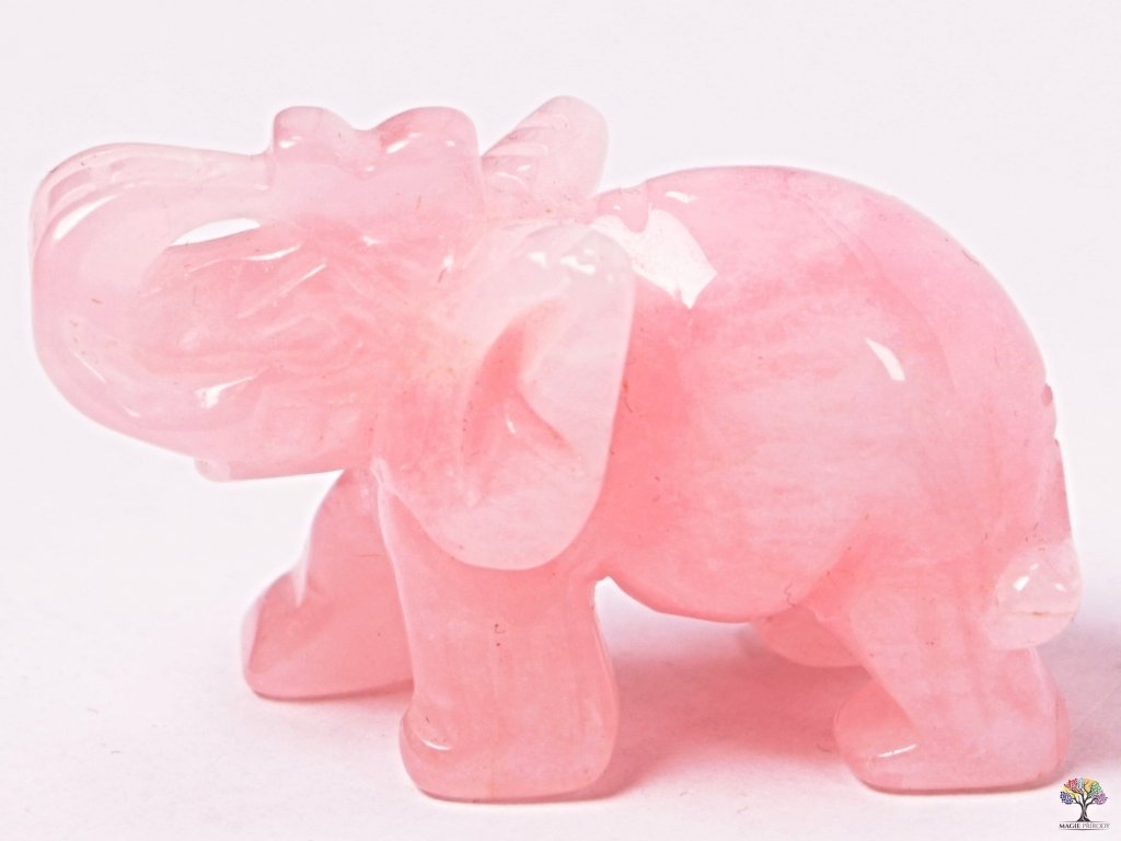 Slon Růženín 50 x 35 mm - Slon z přírodního kamene #11  + až 10% sleva po registraci