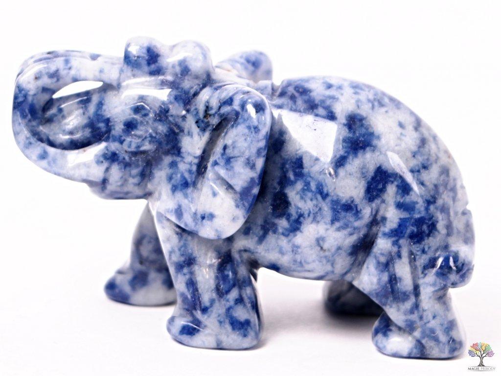 Slon Sodalit 50 x 35 mm - Slon z přírodního kamene #17  + až 10% sleva po registraci