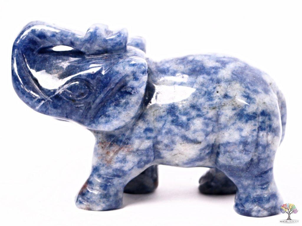 Slon Sodalit 80 x 50 mm - Slon z přírodního kamene #18
