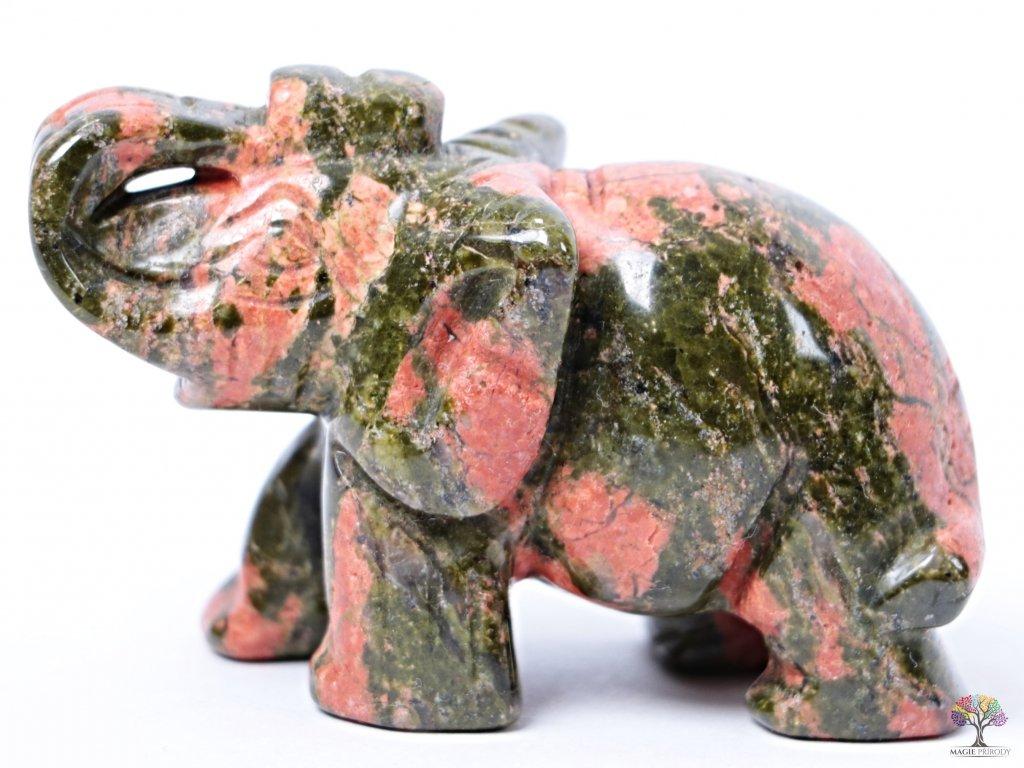 Slon Unakit 50 x 35 mm - Slon z přírodního kamene #23  + až 10% sleva po registraci