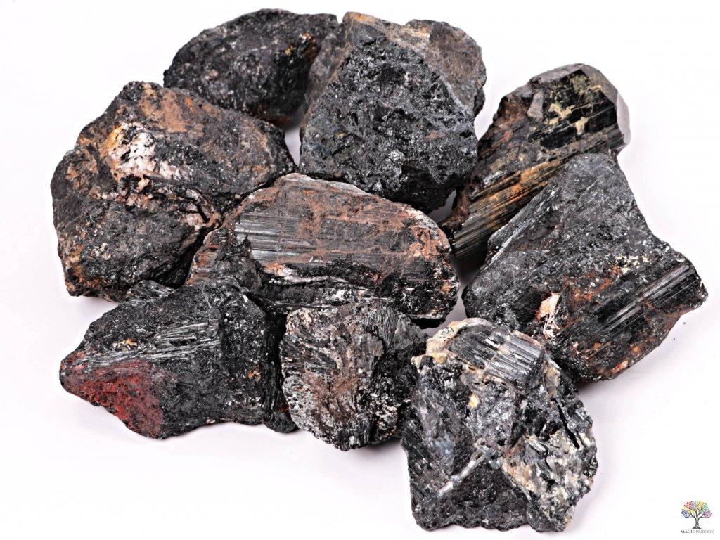 Turmalín černý surový XXL - 1 kg - Brazílie  + až 10% sleva po registraci