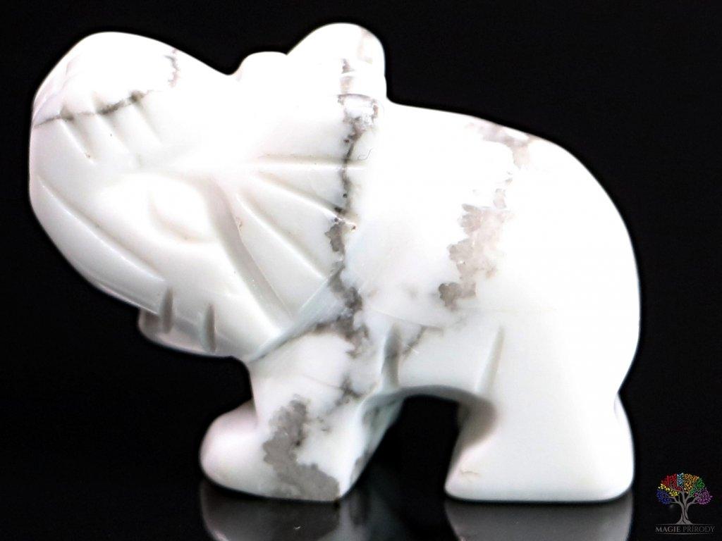 Slon Magnezit 30 x 20 mm - Slon z přírodního kamene #31  + až 10% sleva po registraci
