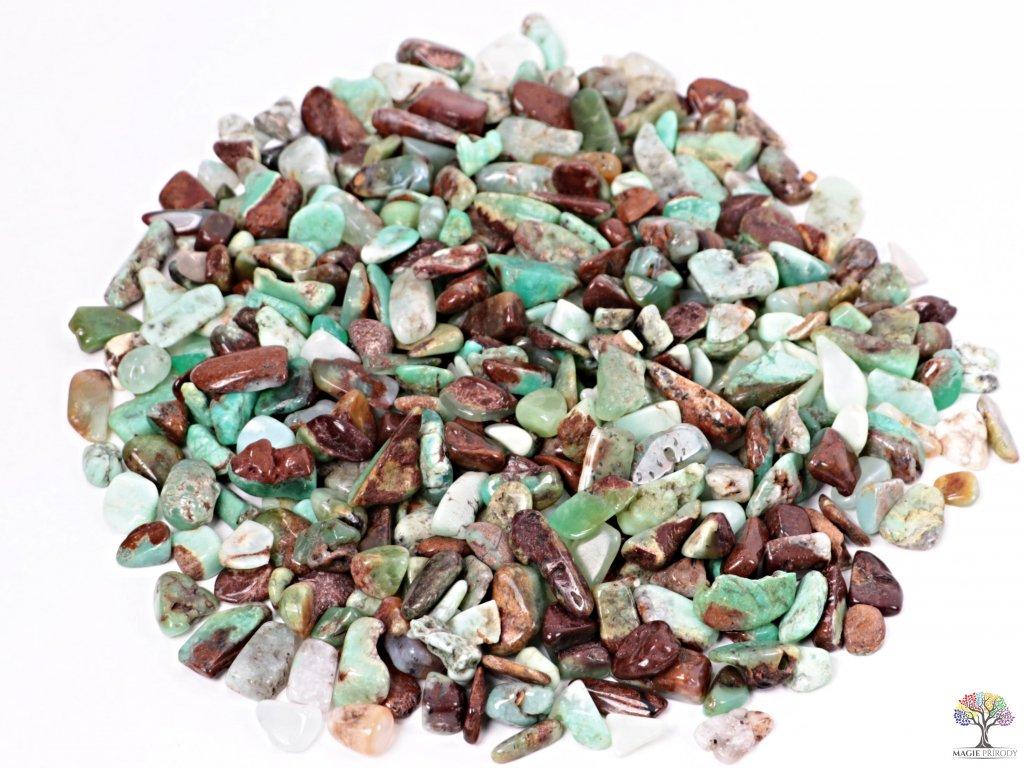 Tromlované kamínky Chryzopras S - kameny o velikosti 10 - 25 mm - 500g - Austrálie  + až 10% sleva po registraci