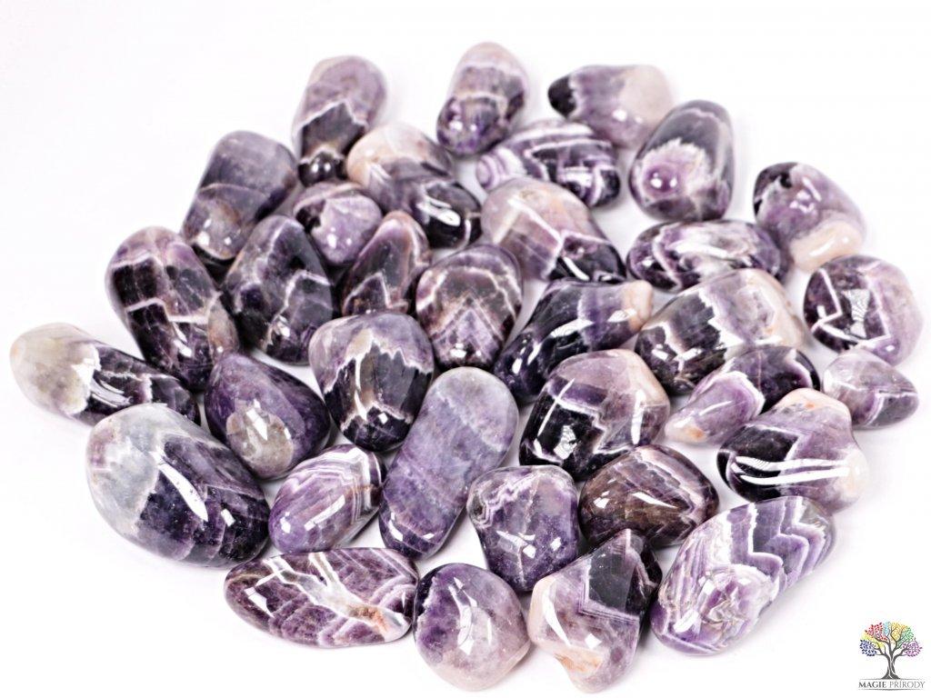 Tromlované kamínky Ametyst XXL - kameny o velikosti 35 - 70 mm - 100g - Zambie  + sleva 5% po registraci na většinu zboží + dárek k objednávce