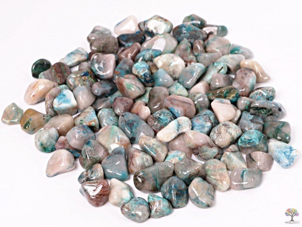 Tromlované kamínky Shattuckit M - kameny o velikosti 20 - 35 mm - 100g - Kongo