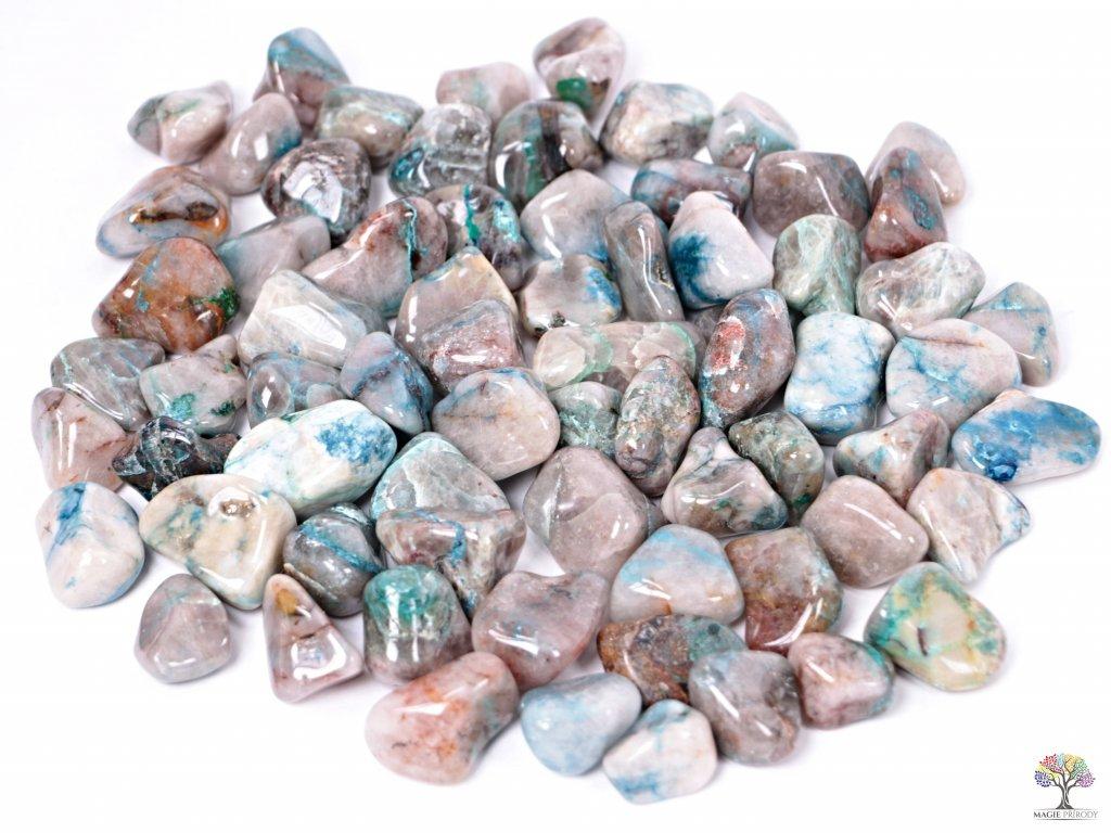 Tromlované kamínky Shattuckit L - kameny o velikosti 20 - 40 mm - 100g - Kongo