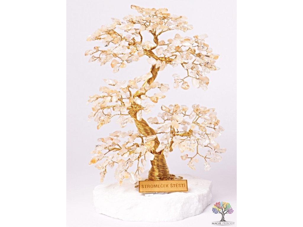 Citrín stromeček štěstí 20 cm - A4 - #128