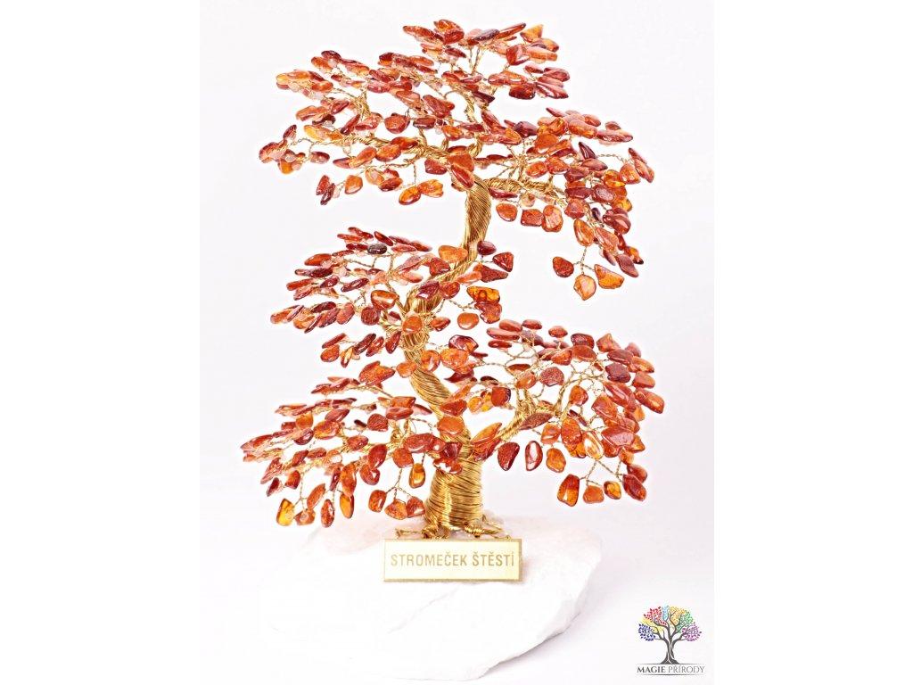 Jantar stromeček štěstí 20 cm - A4 - #133  + sleva 5% po registraci na většinu zboží + dárek k objednávce