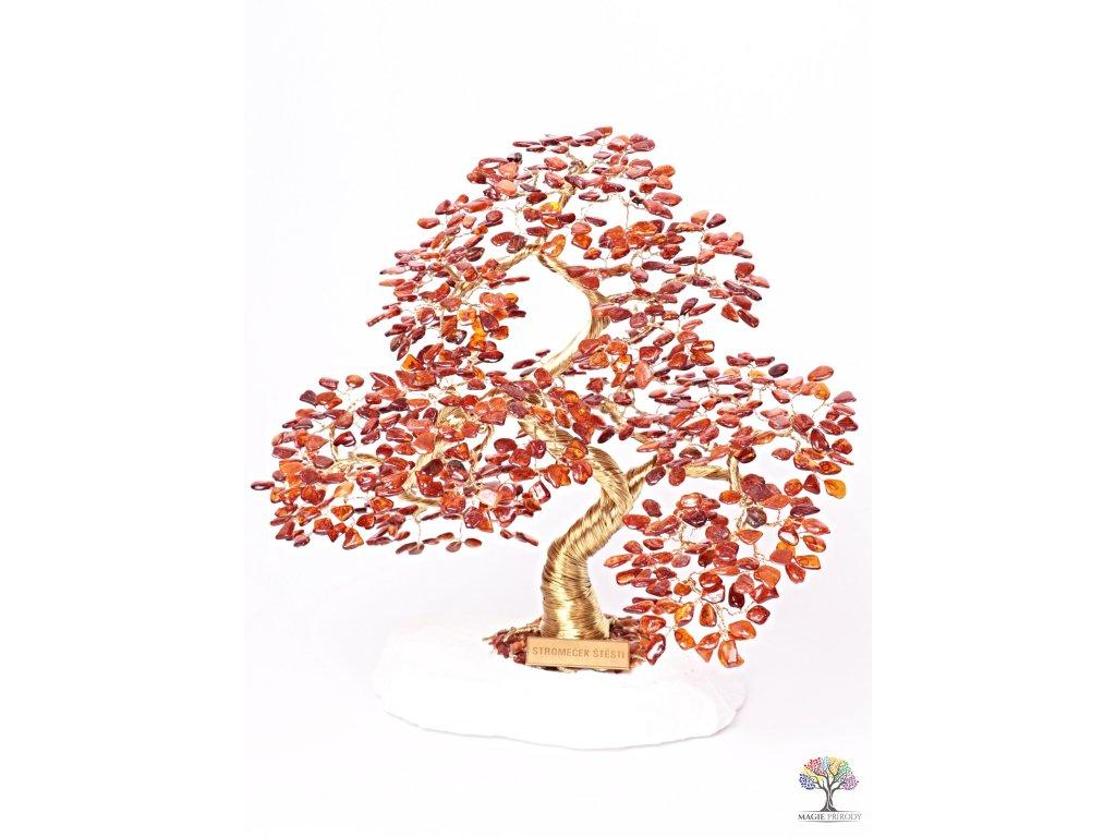 Jantar stromeček štěstí  - bonsai - 30 cm - D9 + dárkové balení #137  + sleva 5% po registraci na většinu zboží + dárek k objednávce
