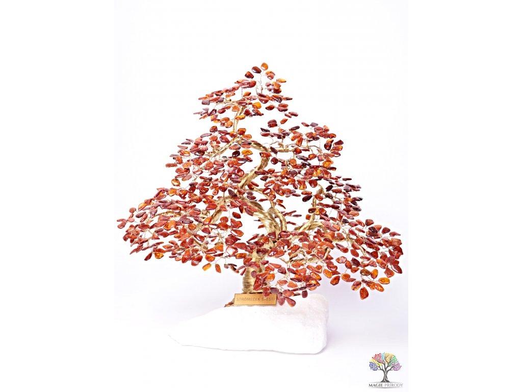 Jantar stromeček štěstí  - bonsai - 35 cm - D11 + dárkové balení #138  + sleva 5% po registraci na většinu zboží + dárek k objednávce