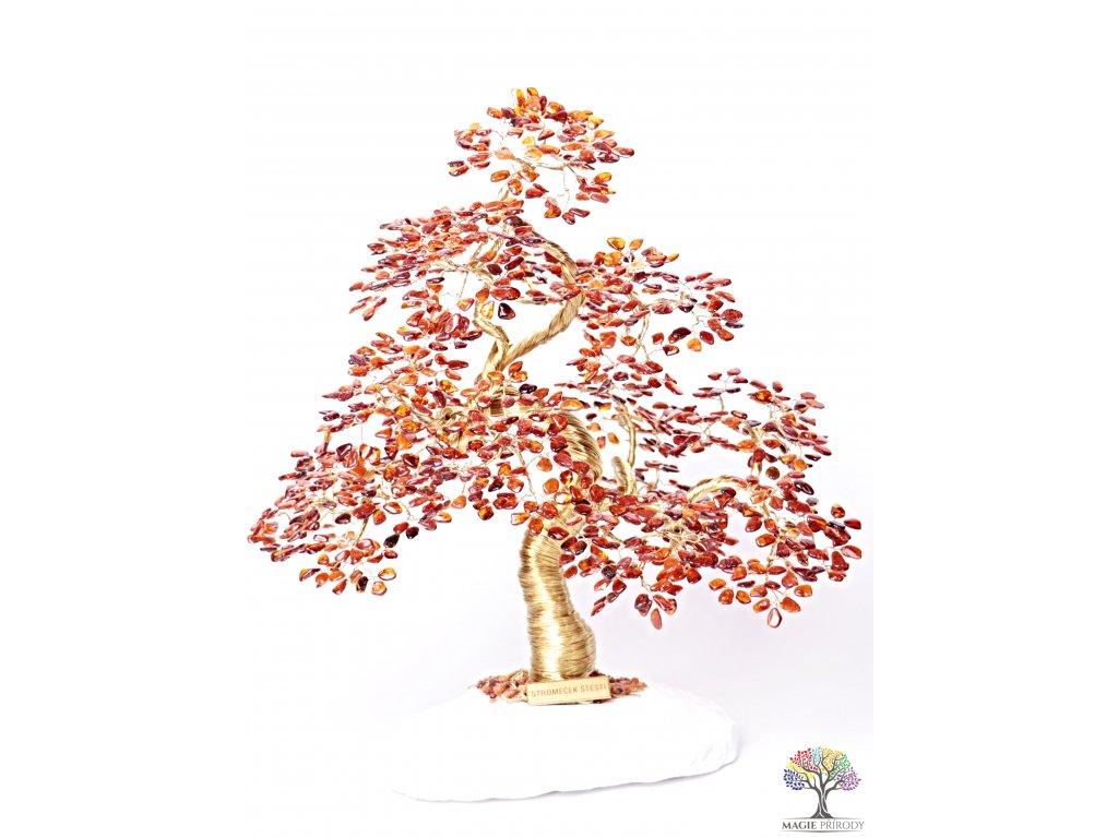 Jantar stromeček štěstí  - bonsai - 42 cm - D15 + dárkové balení #139  + sleva 5% po registraci na většinu zboží + dárek k objednávce