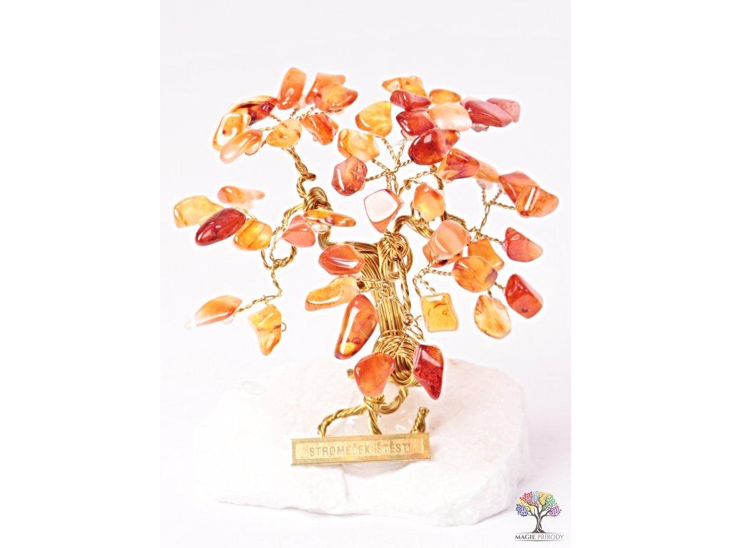 Karneolový stromeček štěstí 9 cm - R3 - #144