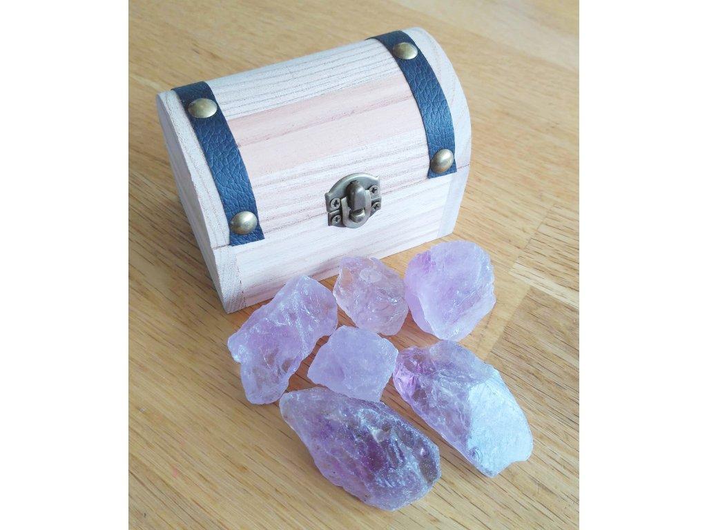 Magická truhlička s krystaly ametystu - #01  + až 10% sleva po registraci