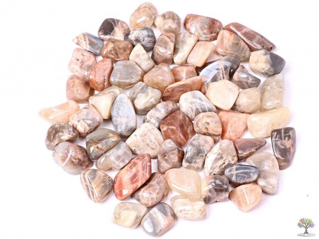Tromlované kamínky Měsíční kámen L - kameny o velikosti 25 - 40 mm - 1kg - Brazílie  + až 10% sleva po registraci