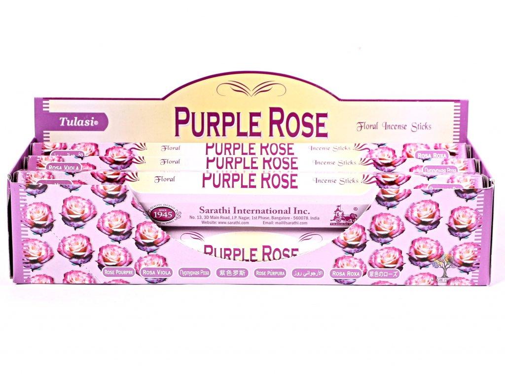 Vonné tyčinky Tulasi Purple Rose - 20 ks - #73  + sleva 5% po registraci na většinu zboží + dárek k objednávce