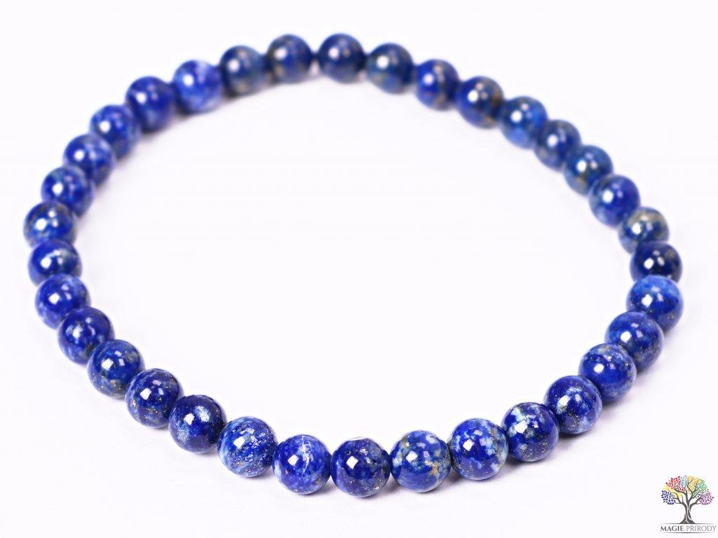 Náramek Lapis Lazuli - 5 mm kuličky #109 - z přírodních kamenů  + sleva 5% po registraci na většinu zboží + dárek k objednávce