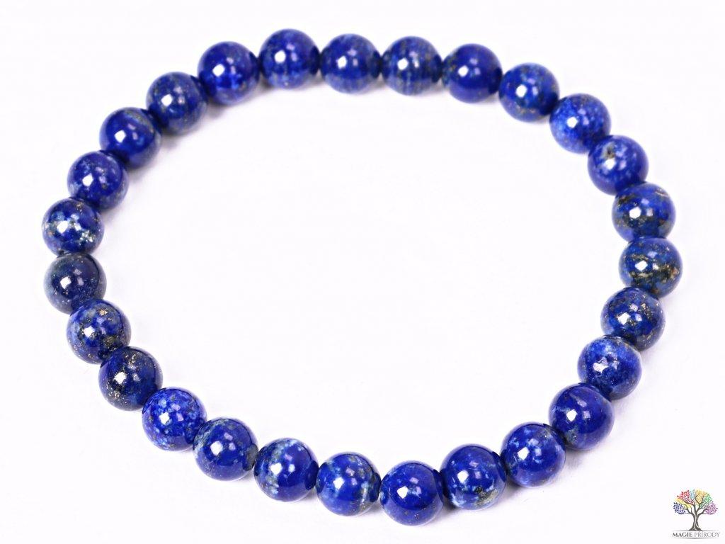 Náramek Lapis Lazuli - 7 mm kuličky #232 - z přírodních kamenů  + sleva 5% po registraci na většinu zboží + dárek k objednávce