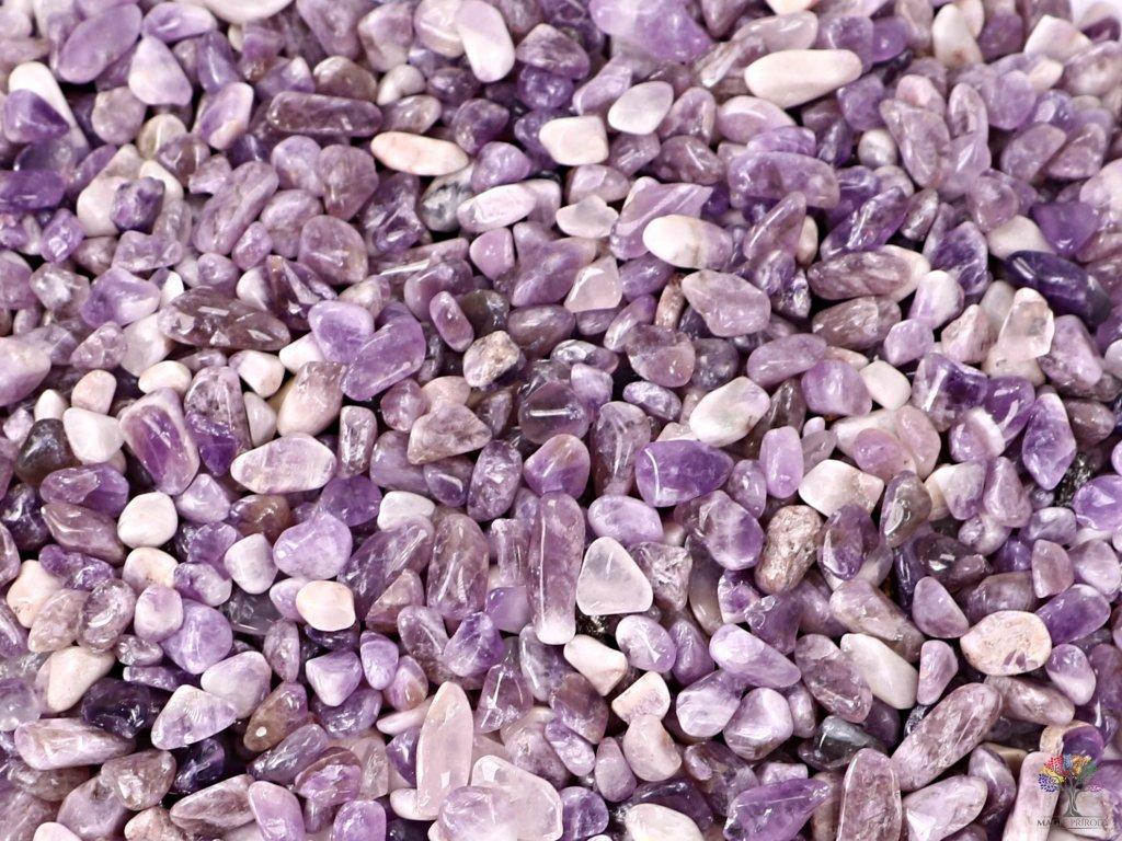 Tromlované kamínky Ametyst XS o velikosti 8 - 15 mm - 100g - Malawi  + sleva 5% po registraci na většinu zboží + dárek k objednávce
