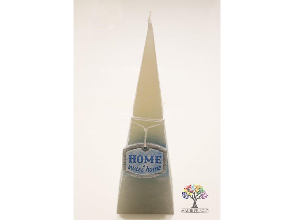 Svíčka pyramida 70x240 mm Home #3