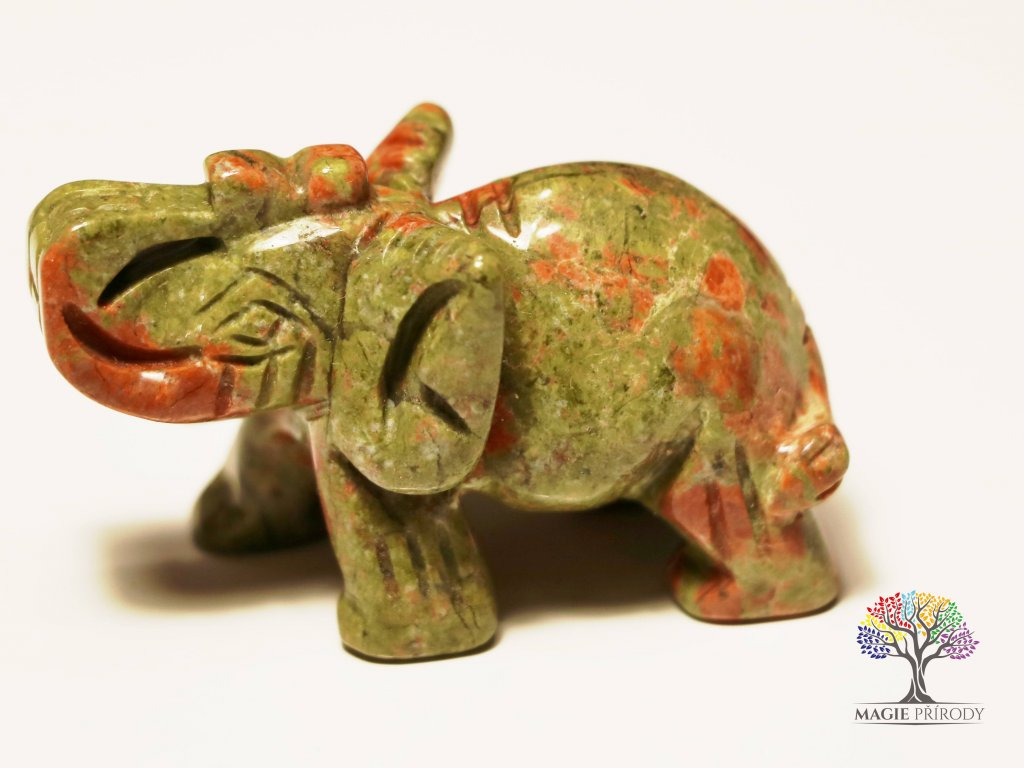 Slon Unakit 30x50 mm - Slon z přírodního kamene #13