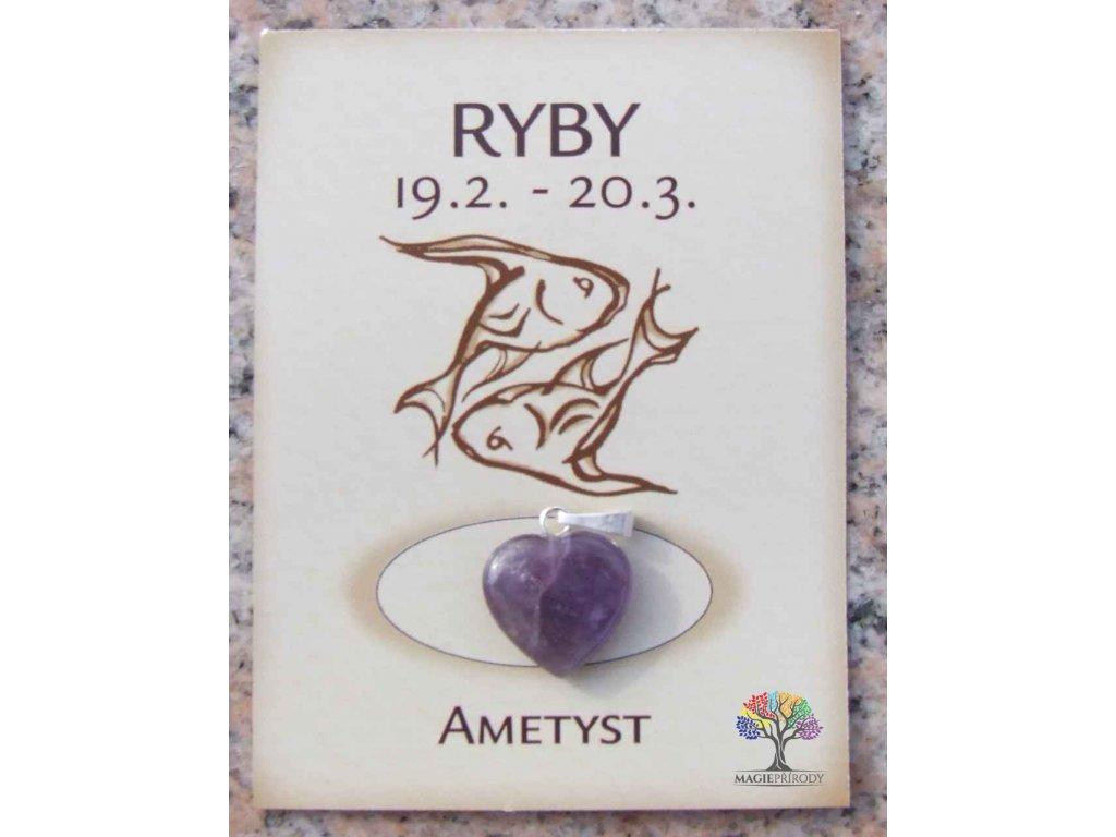 Kámen podle znamení - RYBY - tvar srdce  + sleva 5% po registraci na většinu zboží + dárek k objednávce