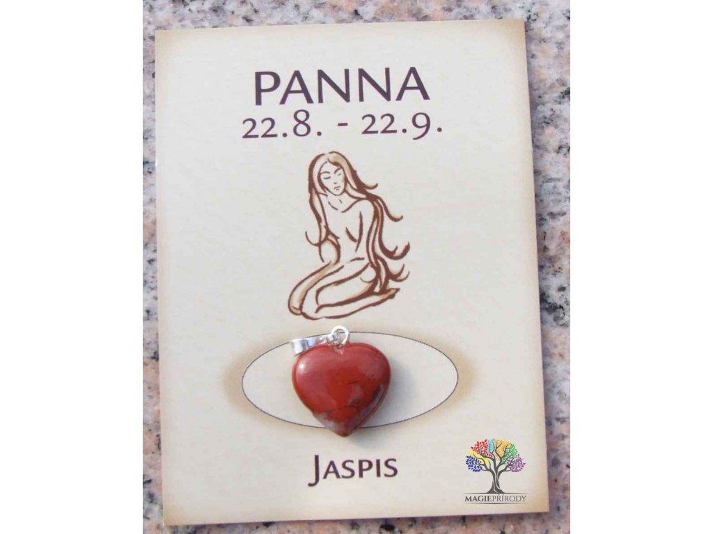 Kámen podle znamení - PANNA - tvar srdce