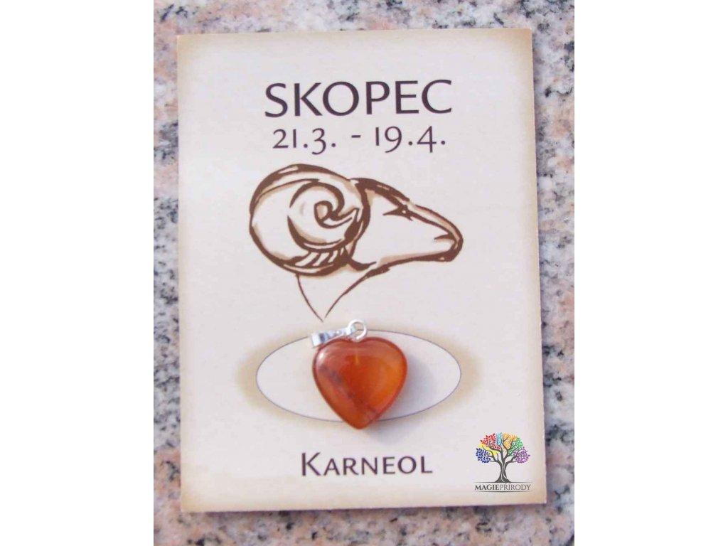Kámen podle znamení - SKOPEC - tvar srdce  + až 10% sleva po registraci