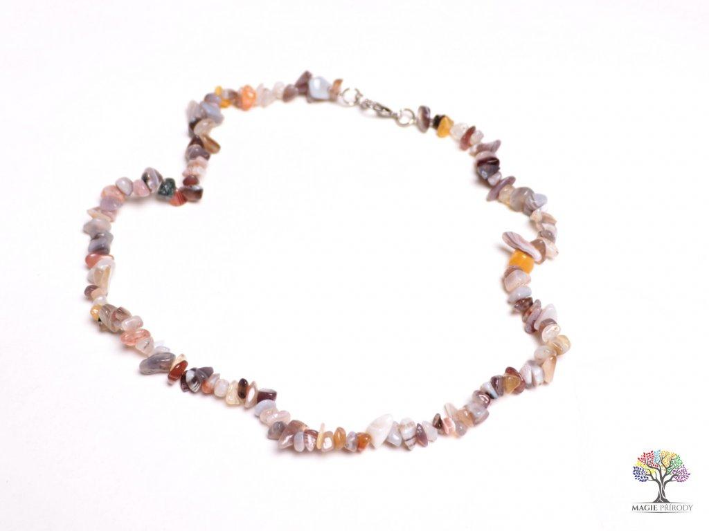 Náhrdelník Achát Botswana tromlovaný #01 - z přírodních kamenů  + sleva 5% po registraci na většinu zboží + dárek k objednávce