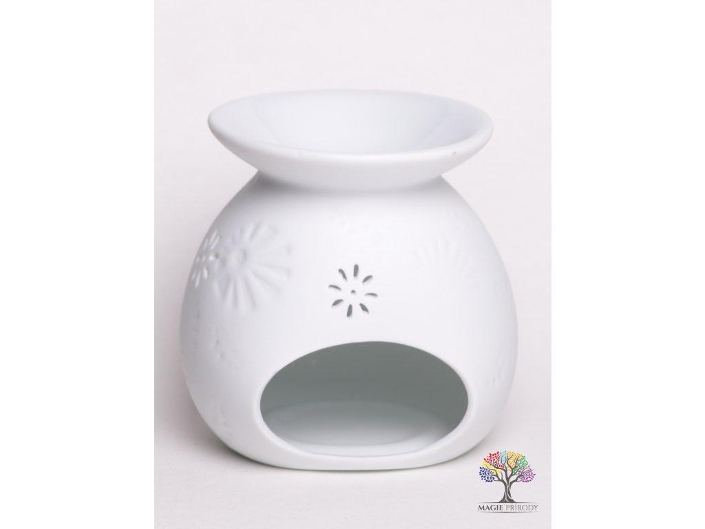 Aroma lampa keramická bílá matná 06