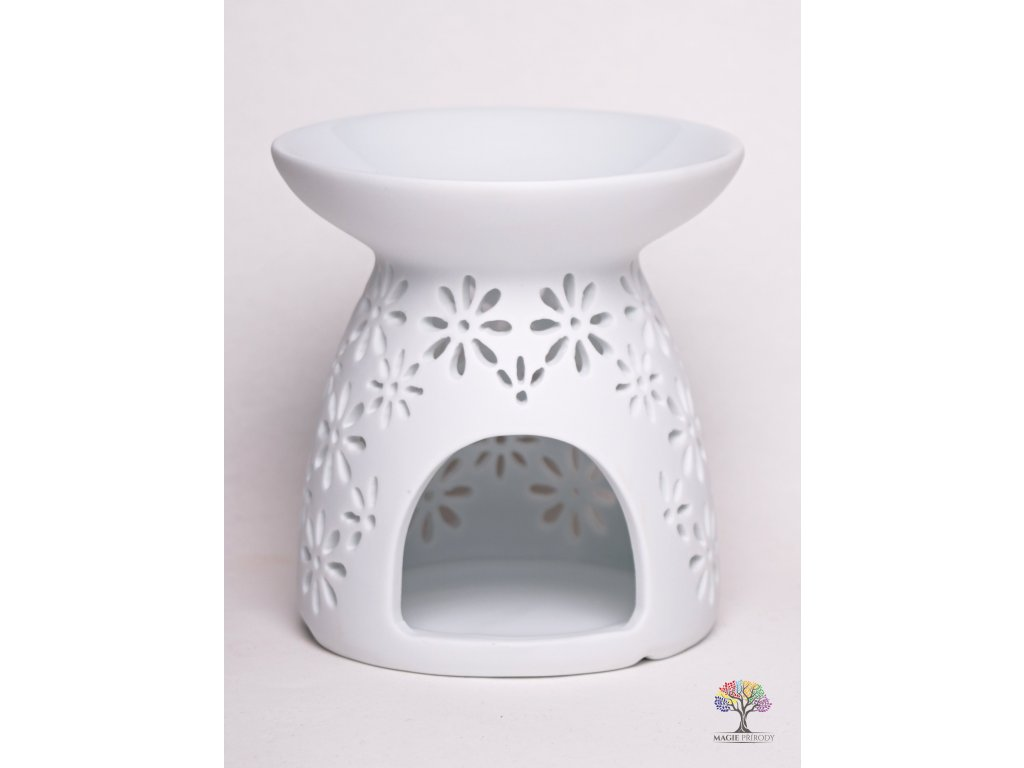 Aroma lampa keramická bílá matná 10