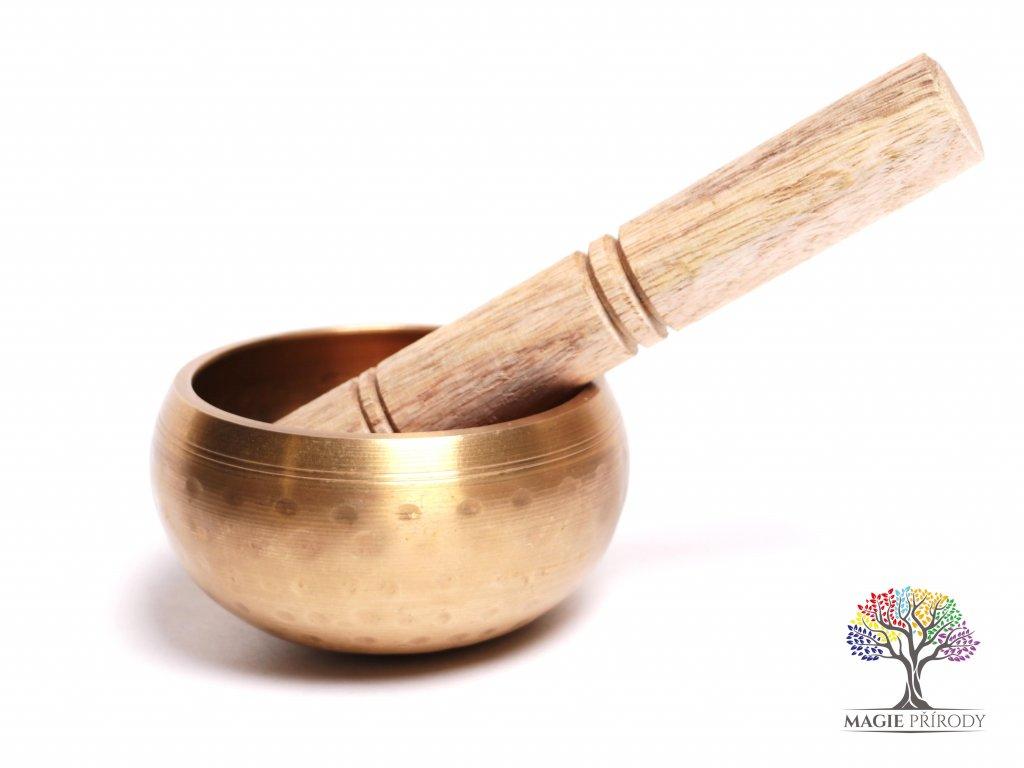 Tibetská miska - zpívající mísa 9 cm - 350 g s paličkou #03