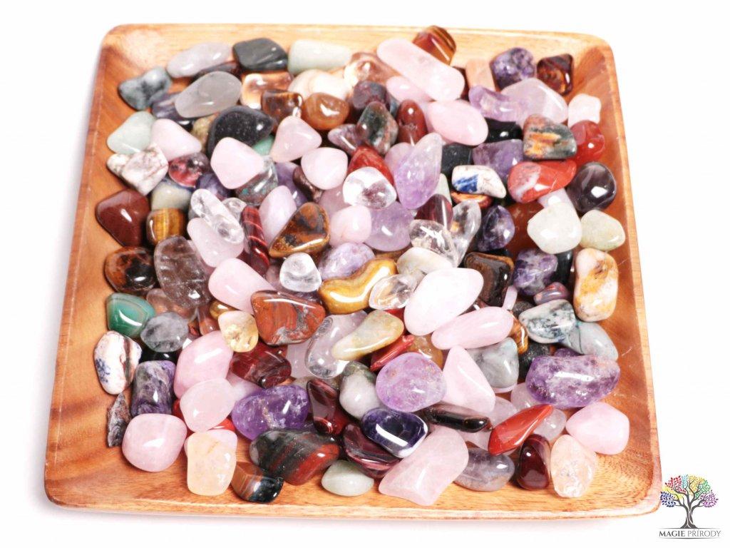 Tromlované kamínky M - L - kameny o velikosti 25 - 55 mm - 100g