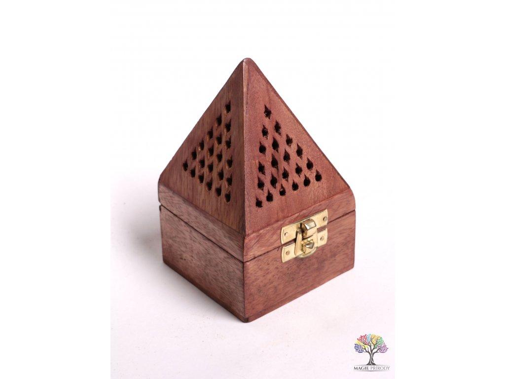 Dřevěná kadidelnice - pyramida - vykuřovadlo #02